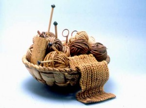 Michelle Holzapfel, Knitting Basket, 1993, Native Hardwoods and Ebony