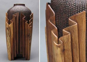 Michelle Holzapfel, Linfold Vase, Walnut Log, 2007