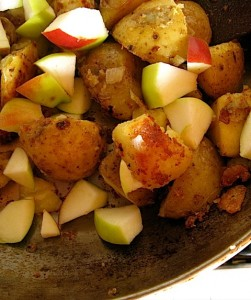 Heirloom Lady Apple and Yukon Gold Potato Fry