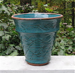Virginia Wyoming blue green flowerpot