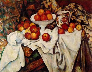 cezanne, apples and oranges, 1899, musee d'Orsay, Paris