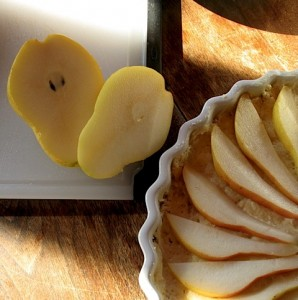Slicing the Bartlett Pears