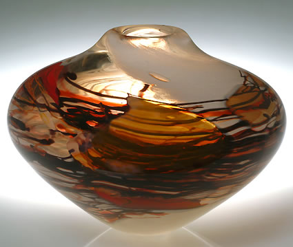 solinglass-shard-series-autumn-bowl 6.5 x 10 x 10 (shards and cane)