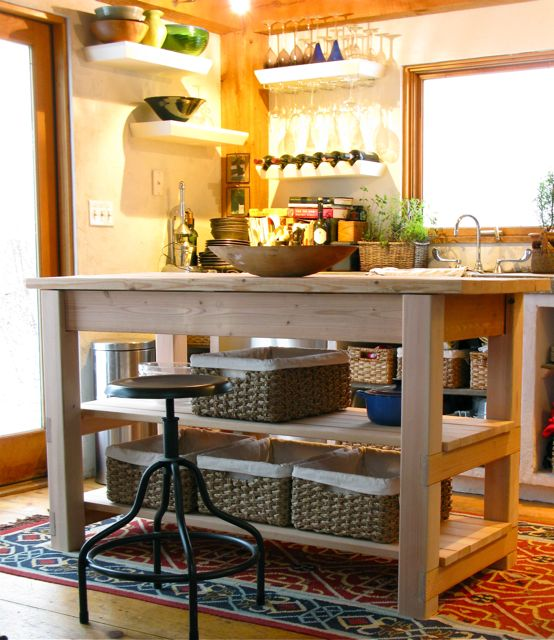 Farm Style Kitchen Island Part - 36: My New, Home-built, Farmhouse Style Work Island ...