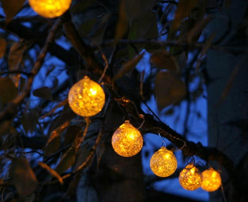 String Lights Solar :  Garden Globe Solar String Lights The Gardener s Eden