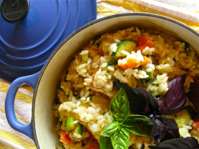 Summertime Risotto with Zucchini, Basil and Orange Bell Peppers ...