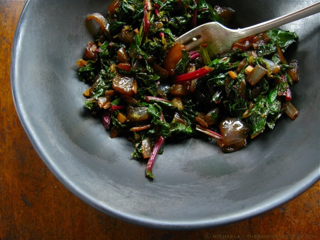 Sauteed-Beet-Greens-with-Caramelized-Onions-and-Balsamic-Vinegar ...