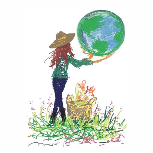 every day is earth day, copyright michaela harlow, www.thegardenerseden.com