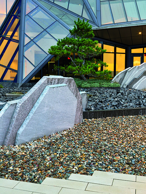 Garden Of Stone Stone sculpture the gardeners eden sculptural ranges and serene expanses a garden of stone at the education first building in cambridge ma design shin abe photography david cobb workwithnaturefo