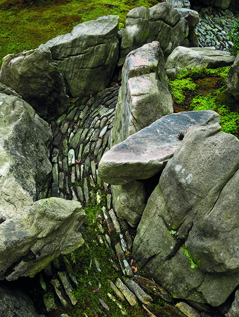 the sensation of movement captured in stone bridge view tiger glen garden ithaca new york design marc keane photography david m cobb - Japanese Garden Stone Bridge