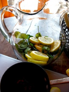 lemon mint tea two