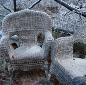 potager chairs in winter