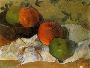 Gauguin, Apples and Bowl, 1888