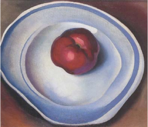 O'Keeffe - Red Apple on a Blue Plate
