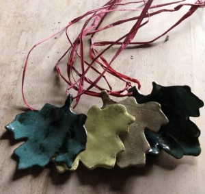 Virginia Wyoming, leaf ornaments