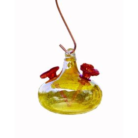 Humming Bird Feeder Glass Crackle
