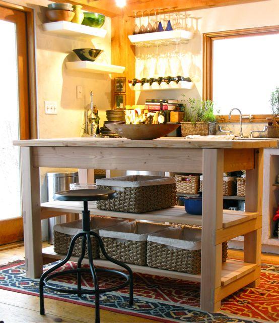 Home Built Farmhouse Kitchen Island
