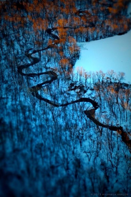 River Through the Trees ⓒ 2013 michaela harlow