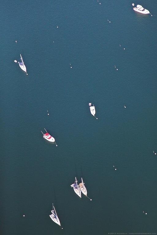 Boats - Above New Harbor, Block Island, Rhode Island - michaela medina harlow - thegardenerseden.com