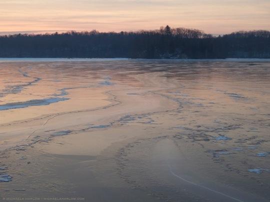 pink ice on the cove - michaelamedinaharlow - michaelaharlow.com
